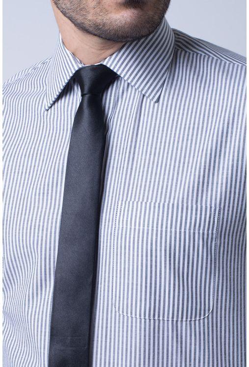 Camisa-social-masculina-tradicional-algodao-misto-grafite-f07600a-3