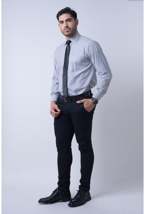 Camisa-social-masculina-tradicional-algodao-misto-grafite-f07600a-4