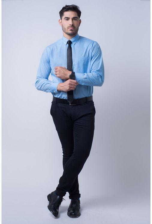 Camisa-social-masculina-tradicional-algodao-misto-azul-medio-f09993a-4