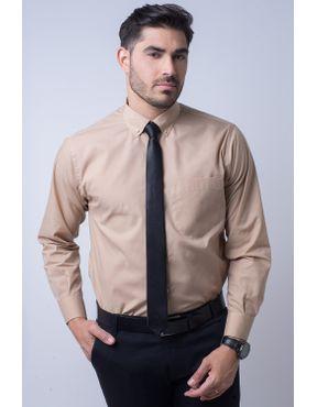 d099066d3e Camisa social masculina tradicional fácil de passar bege f09993a 01 ...