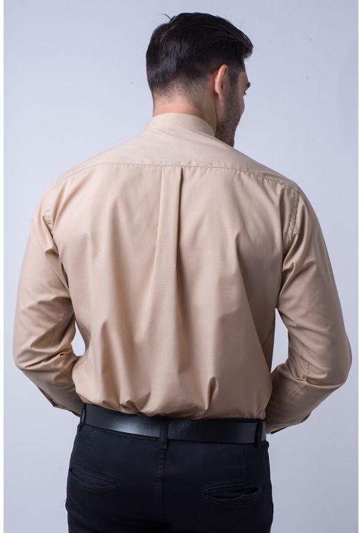 Camisa-social-masculina-tradicional-algodao-misto-bege-f09993a-2