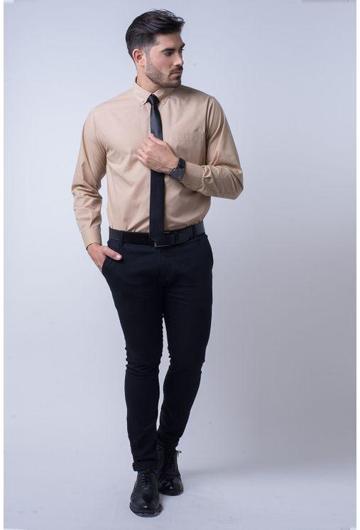 Camisa-social-masculina-tradicional-algodao-misto-bege-f09993a-4