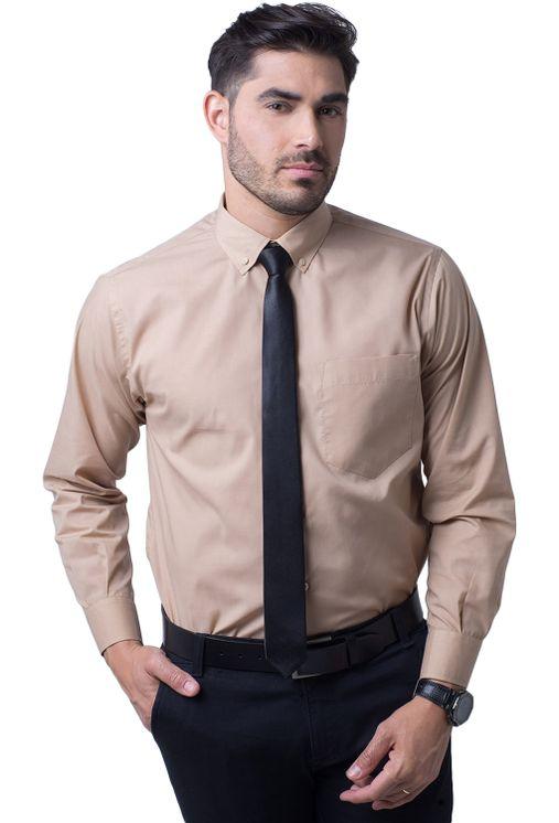 Camisa-social-masculina-tradicional-algodao-misto-bege-f09993a-5