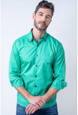 Camisa-casual-masculina-tradicional-algodao-fio-60-verde-f01315a-01-1