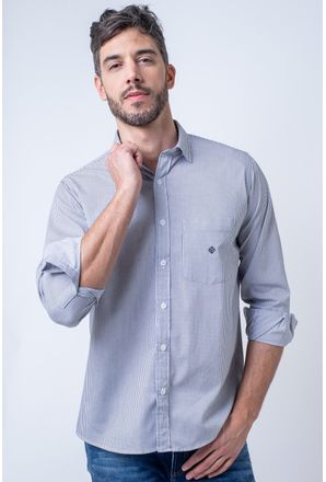 Camisa-casual-masculina-tradicional-algodao-fio-60-cinza-f01408a-1