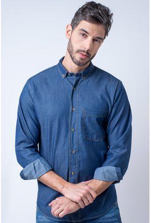 Camisa-casual-masculina-tradicional-jeans-azul-escuro-f08844a-1