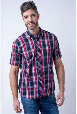 Camisa-casual-masculina-tradicional-algodao-fio-50-vermelho-f01884a-1