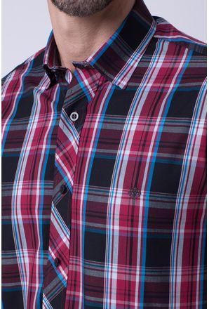 Camisa-casual-masculina-tradicional-algodao-fio-50-vermelho-f01884a-3