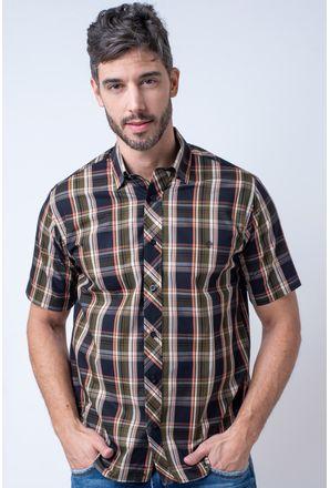 Camisa-casual-masculina-tradicional-algodao-fio-50-verde-f01884a-1