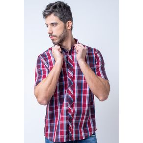 Camisa-casual-masculina-tradicional-algodao-fio-50-bordo-f01884a-1
