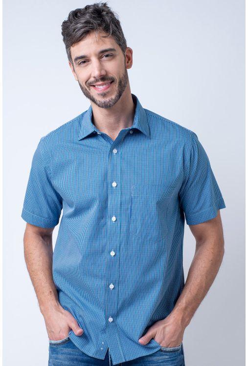 Camisa-casual-masculina-tradicional-algodao-fio-50-verde-f04387a-1