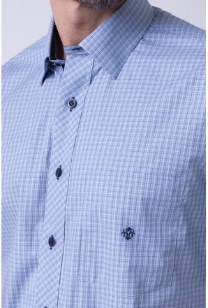 Camisa-casual-masculina-tradicional-algodao-fio-50-azul-medio-f91381a-3