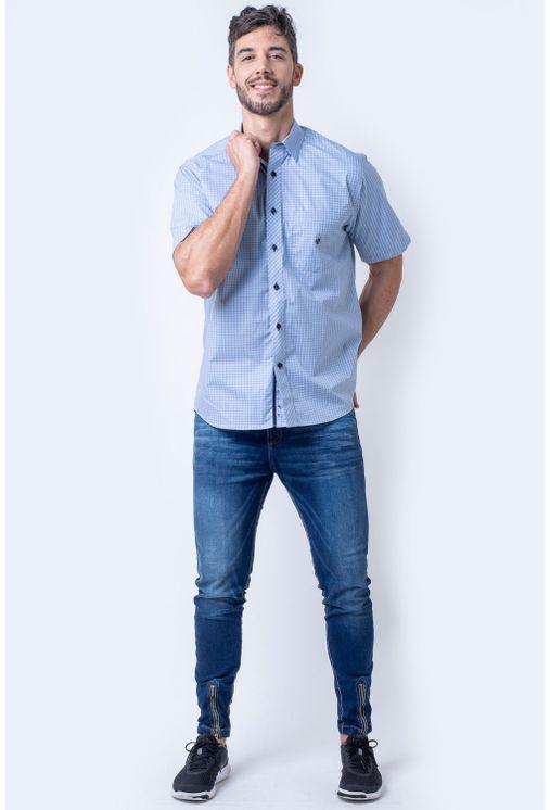 Camisa-casual-masculina-tradicional-algodao-fio-50-azul-medio-f91381a-4