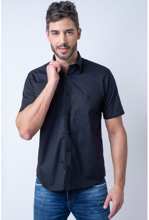 Camisa-casual-masculina-tradicional-algodao-fio-50-preto-f00448a-1