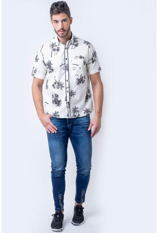 Camisa-casual-masculina-tradicional-algodao-fio-40-creme-f01605a-4
