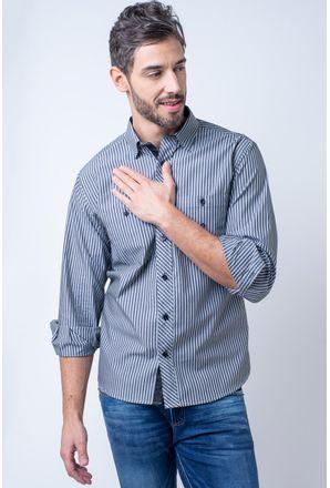Camisa-casual-masculina-tradicional-algodao-fio-50-verde-f01411a-1