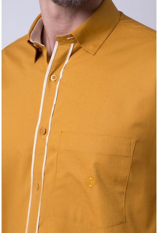 Camisa-casual-masculina-tradicional-algodao-fio-40-mostarda-f02043a-1