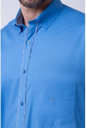 Camisa-casual-masculina-tradicional-algodao-fio-40-azul-medio-f02043a-3