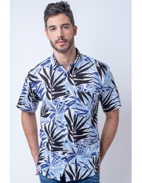 56bdaa006b Camisaria Fascynios Oficial · KITS · Ponta de Estoque 1. Camisa casual  masculina tradicional rami azul f02100a 01 ...