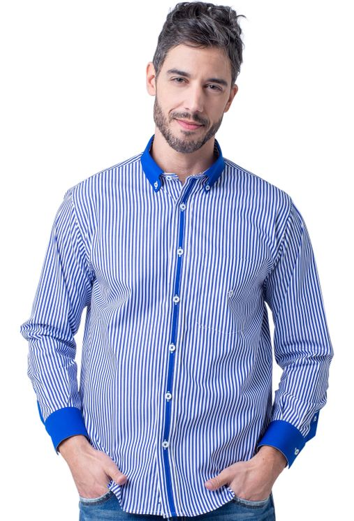 Camisa-casual-masculina-tradicional-algodao-fio-80-azul-f01147a-5