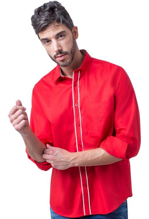 Camisa-casual-masculina-tradicional-algodao-fio-40-vermelho-f02043a-1