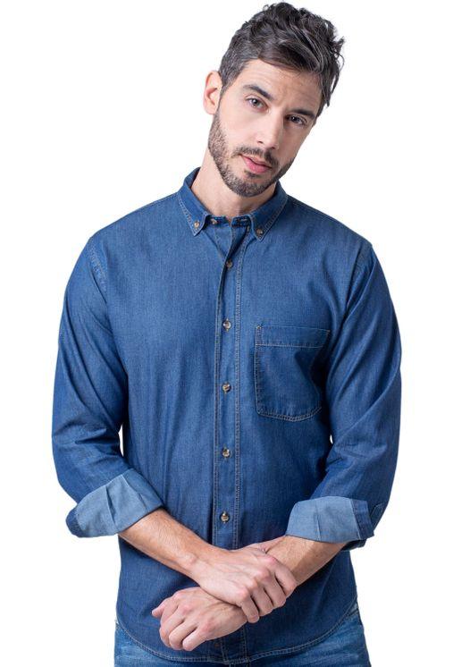 Camisa-casual-masculina-tradicional-jeans-azul-escuro-f08844a-5