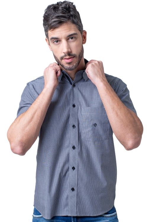 Camisa-casual-masculina-tradicional-algodao-fio-50-preto-f01193a-1
