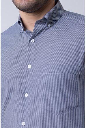 Camisa-casual-masculina-tradicional-algodao-misto-preto-f07648a-3