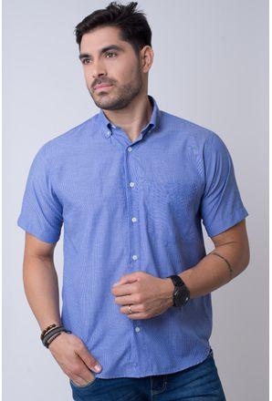 Camisa-casual-masculina-tradicional-algodao-misto-azul-medio-f07648a-1