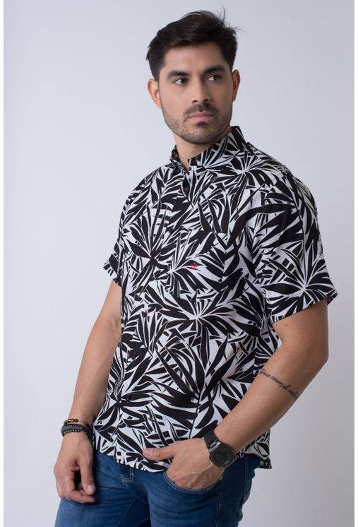167e723bffdd1 Camisa casual masculina tradicional rami preto f02110a - Camisaria ...