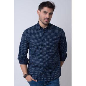 Camisa-casual-masculina-tradicional-algodao-fio-40-azul-escuro-f01868a-1