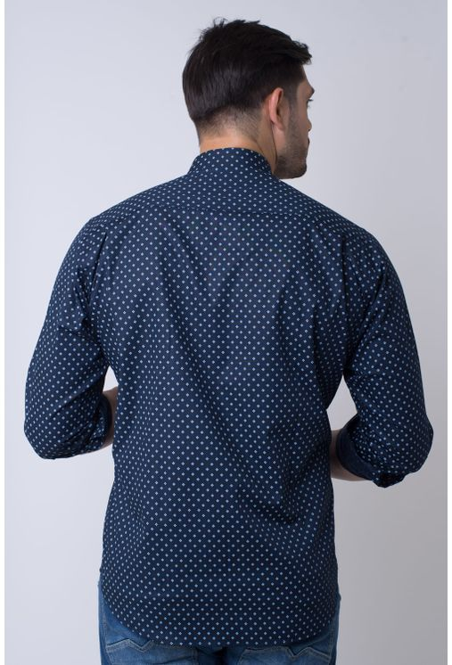 Camisa-casual-masculina-tradicional-algodao-fio-40-azul-escuro-f01868a-2