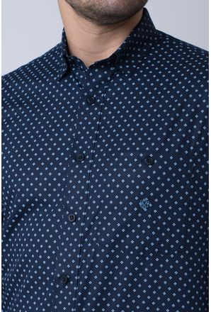 Camisa-casual-masculina-tradicional-algodao-fio-40-azul-escuro-f01868a-3
