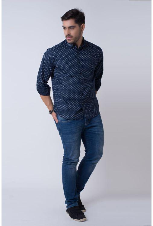 Camisa-casual-masculina-tradicional-algodao-fio-40-azul-escuro-f01868a-4