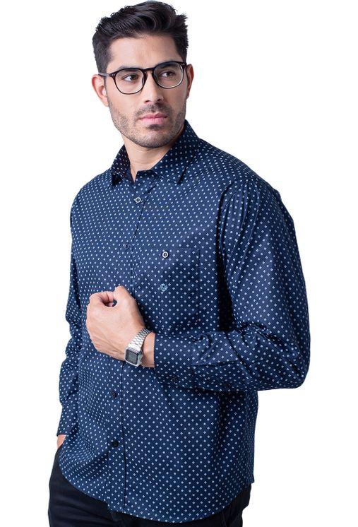 Camisa-casual-masculina-tradicional-algodao-fio-40-azul-escuro-f01868a-5