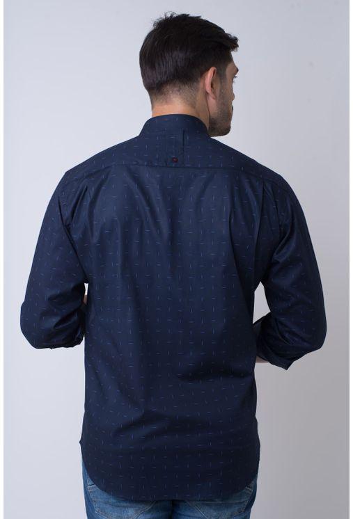 Camisa-casual-masculina-tradicional-algodao-fio-40-azul-escuro-f01863a-2