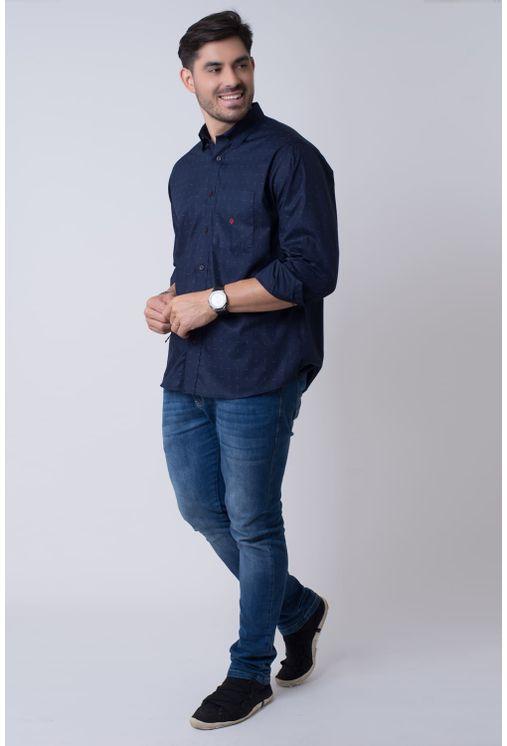 Camisa-casual-masculina-tradicional-algodao-fio-40-azul-escuro-f01863a-4