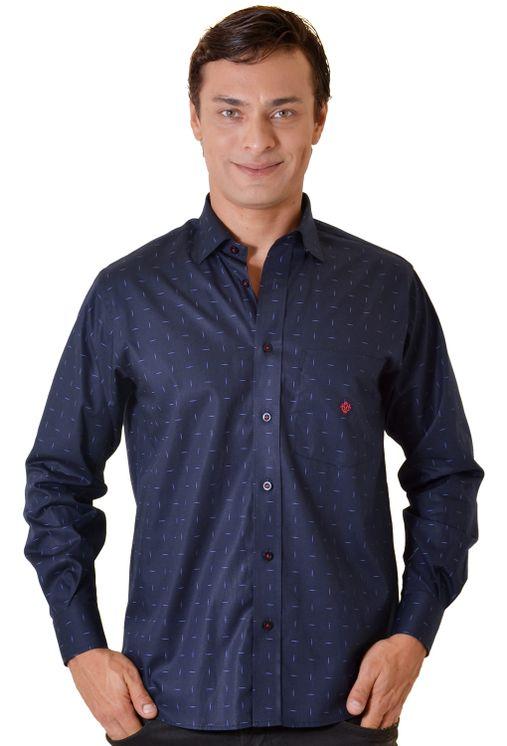 Camisa-casual-masculina-tradicional-algodao-fio-40-azul-escuro-f01863a-5