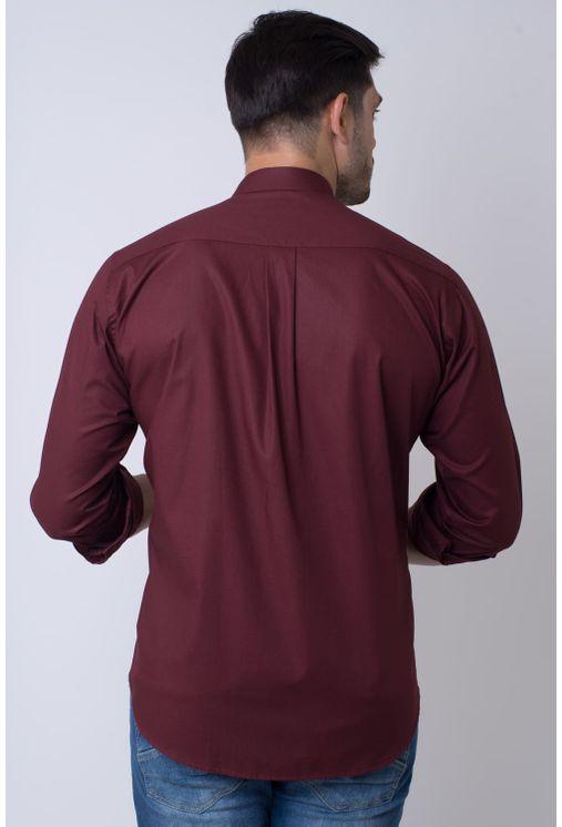 Camisa-casual-masculina-tradicional-algodao-fio-40-bordo-f01862a-2