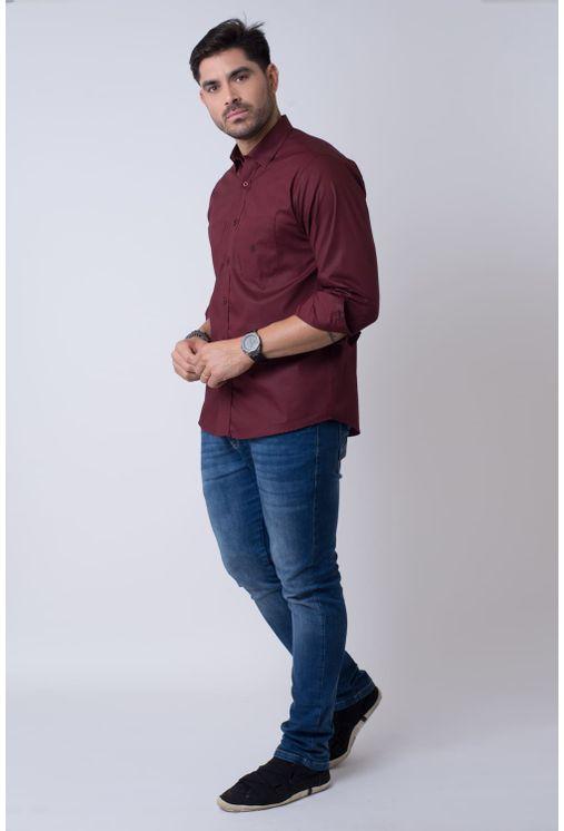 Camisa-casual-masculina-tradicional-algodao-fio-40-bordo-f01862a-4
