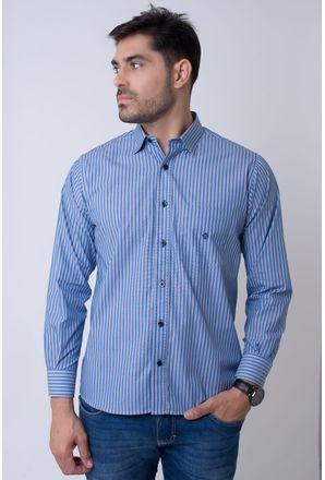 Camisa-casual-masculina-tradicional-algodao-fio-50-azul-escuro-f01397a-1