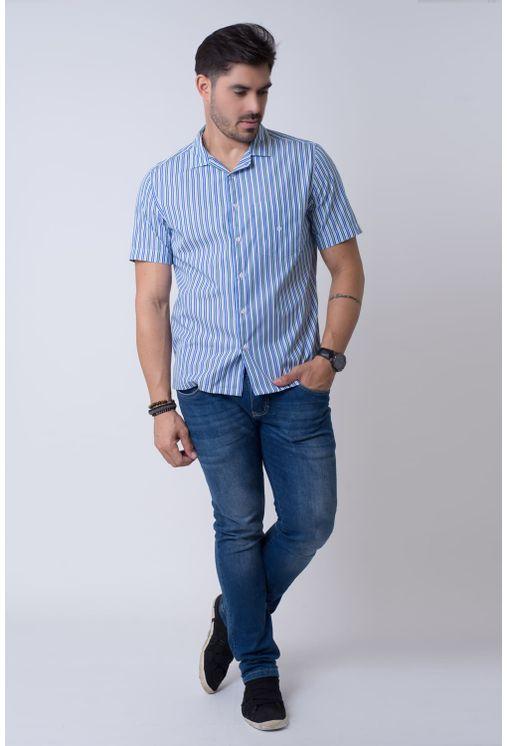 Camisa-casual-masculina-tradicional-algodao-fio-60-azul-f01506a-4