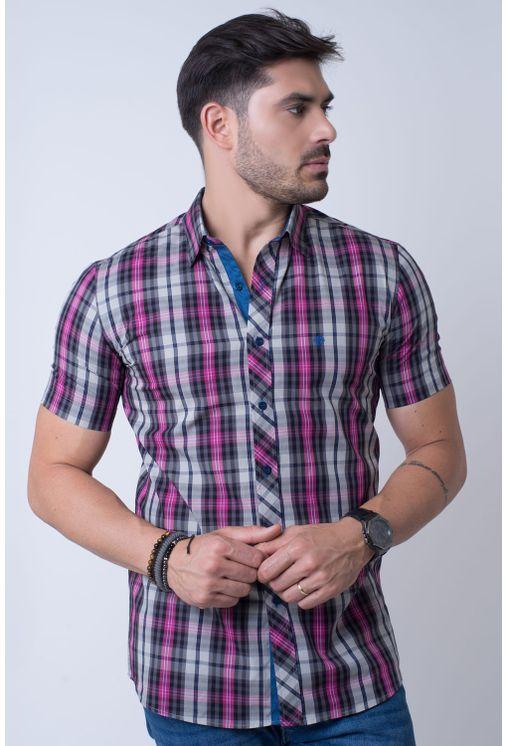 Camisa-casual-masculina-slim-algodao-fio-50-pink-f01371s-1