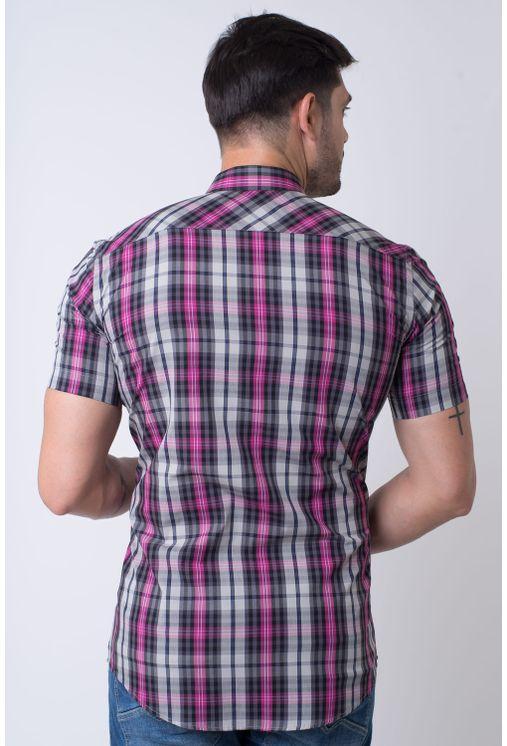Camisa-casual-masculina-slim-algodao-fio-50-pink-f01371s-2