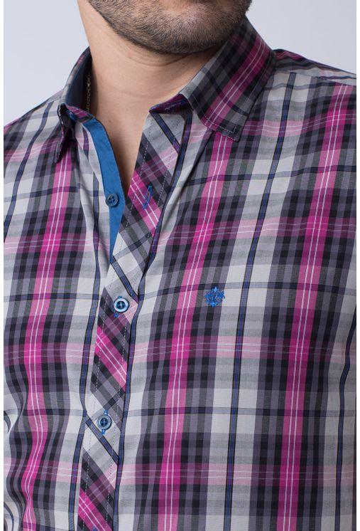 Camisa-casual-masculina-slim-algodao-fio-50-pink-f01371s-3