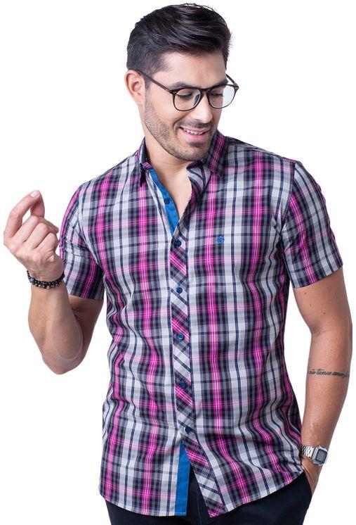 Camisa-casual-masculina-slim-algodao-fio-50-pink-f01371s-5