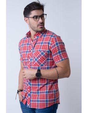 Camisaria Fascynios Oficial · Camisa Slim Masculina · Slim Clássico. Camisa  casual masculina slim algodão fio 50 vermelho f01357s 01 ... 1b6eeb03a202e