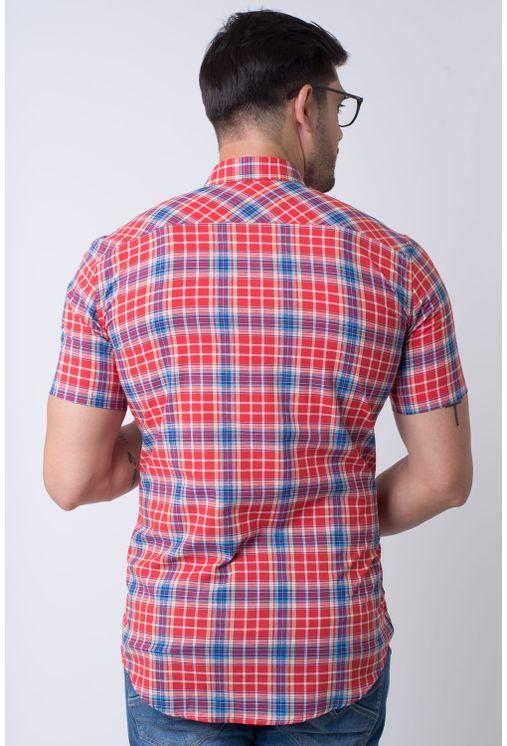 Camisa-casual-masculina-slim-algodao-fio-50-vermelho-f01357s-2