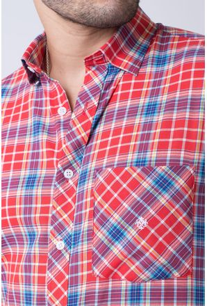Camisa-casual-masculina-slim-algodao-fio-50-vermelho-f01357s-3