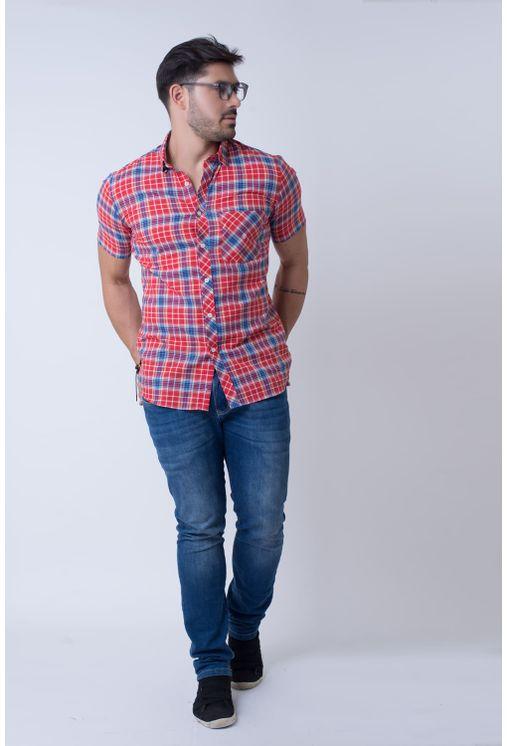 Camisa-casual-masculina-slim-algodao-fio-50-vermelho-f01357s-4
